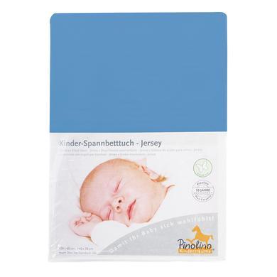 Pino lino hoeslaken Jersey - blauw