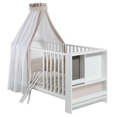 Kindertextilien - Schardt Bettset 4 teilig 100 x 135 cm Pünktchen Beige beige  - Onlineshop Babymarkt