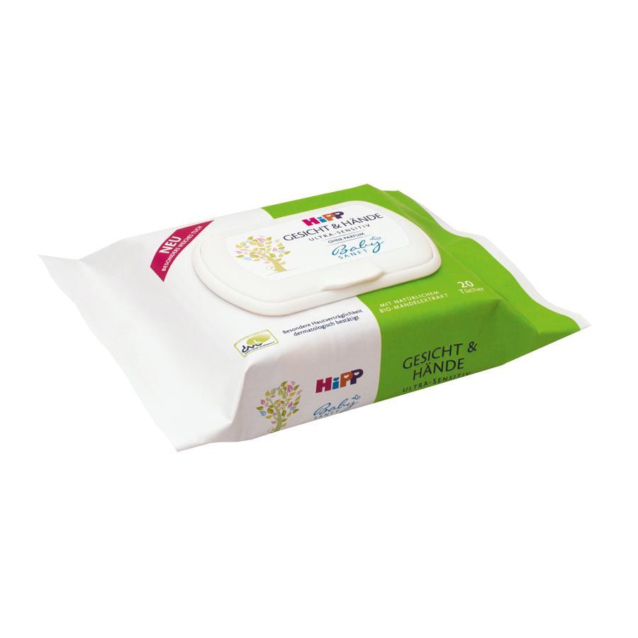 HiPP Babysanft Gesicht & Hände Tücher 20Stk