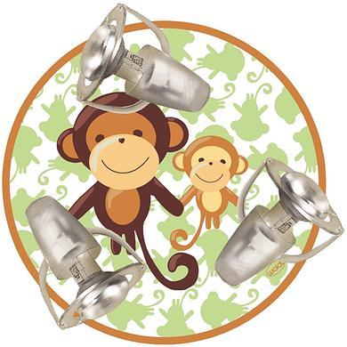 Kinderzimmerlampen - WALDI Deckenleuchte Affe 3 flg.  - Onlineshop Babymarkt