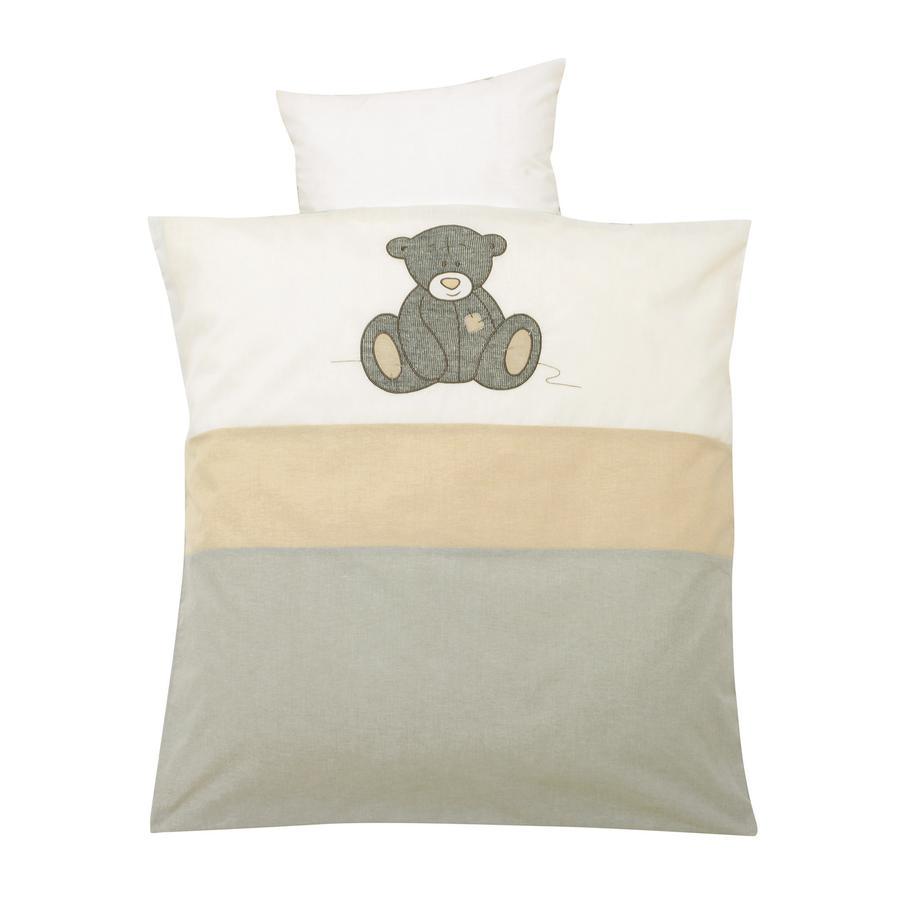 rabatt alvi bettw sche 80 x 80 cm strick teddy grau. Black Bedroom Furniture Sets. Home Design Ideas