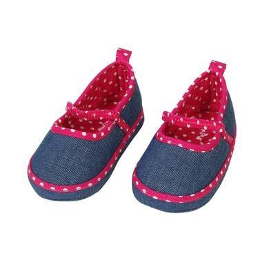 Babyschuhe - MaxiMo Girls Krabbelschuh UNI jeans– pink - Onlineshop Babymarkt
