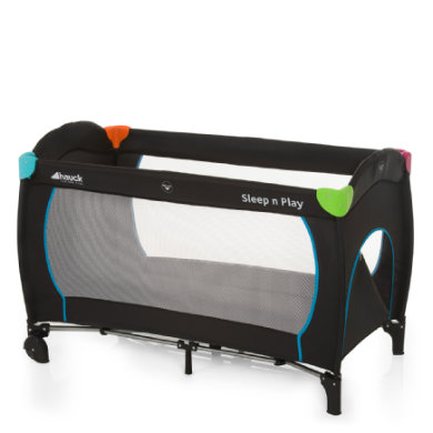 Kinderbetten - hauck Reisebett Sleep'n Play Go Plus Multicolor Black schwarz  - Onlineshop Babymarkt