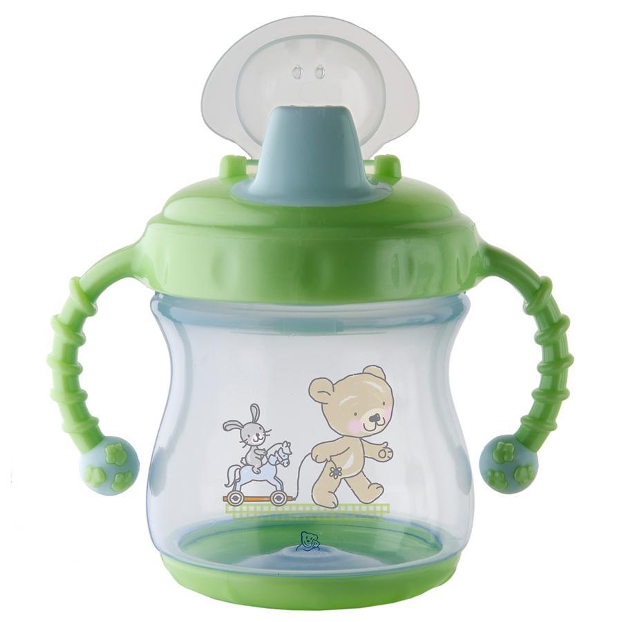 Rotho Babydesign Trinklerntasse auslaufsicher mit weichem Mundstück babybleu perl/lindgrün perl