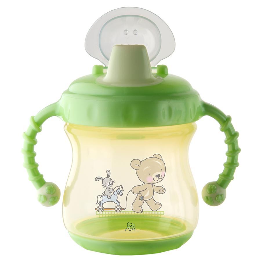Rotho Babydesign Trinklerntasse auslaufsicher mit weichem Mundstück vanille perl/lindgrün perl