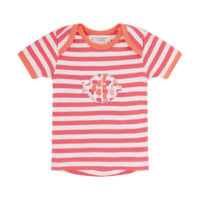 Sense Organics  Girls Baby Tričko TIMBER coral stripes - pestrobarevná
