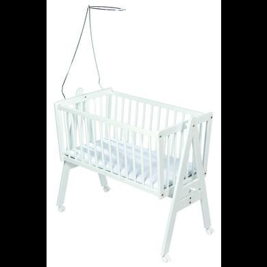 Stubenwagen und Wiegen - easy baby Wiege weiß inkl. Matratze und Himmelhalter Gr.90x45 cm  - Onlineshop Babymarkt
