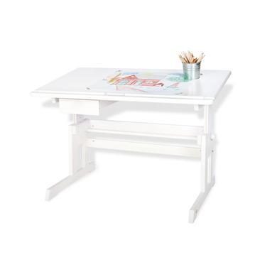 Pinolino Dětský psací stůl Lena, bíly lakovaný