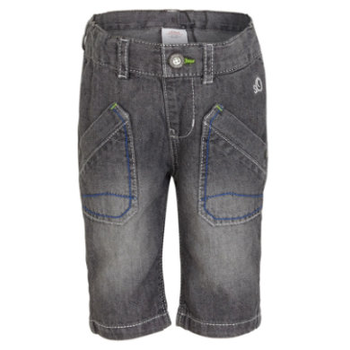 s.OLIVER Boys Mini Džínové bermudy grey denim - šedá