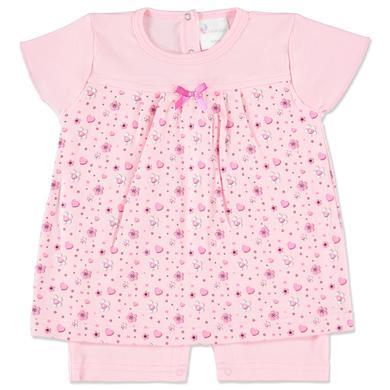pink or blue Girls Sukienka body z marszczeniem Flowers kolor różowy