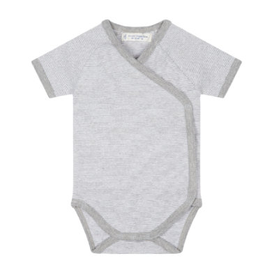 Sense Organics  Baby Body YGON pinny stripes grey marl - šedá
