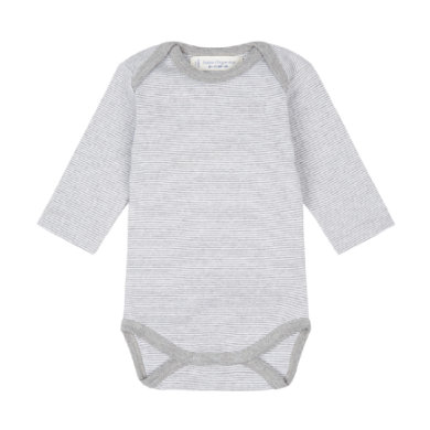 Sense Organics  Baby Body YVON pinny stripes grey marl - šedá