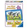 Ravensburger My first Puzzle - Rahmenpuzzle Gute Tierfreunde, 3x 6 Teile