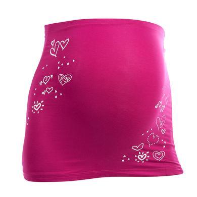 Mamaband  Umstands Bauchband Herzen magenta - rosa/pink - Damen