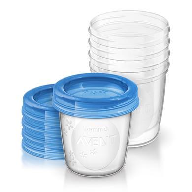 Image of Philips Avent Aufbewahrungssystem für Muttermilch SCF619/05 5 x 180 ml - Gr.125ml-250ml