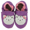 BaBice Kojenecké boty kočka fialové