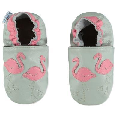 Babyschuhe - BaBice Krabbelschuh FLAMINGO hellgrau - Onlineshop Babymarkt