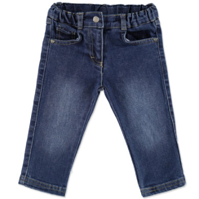 Steiff Girls Mini Jeans washed blue denim - modrá - Gr.86
