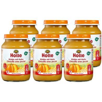 Holle  Bio Kürbis mit Huhn 6 x 190 g - Gr.ab 4 Monate