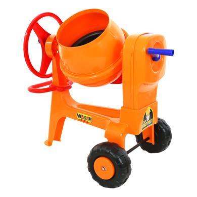Wader míchačka dětská plastová maxi žlutá na kolečkách - oranžová