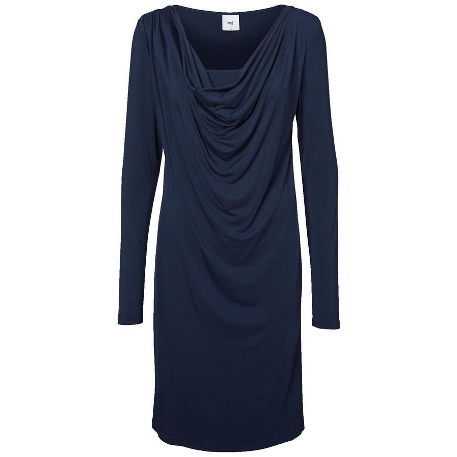 Schwangerschaftsmode für Frauen - MAMA LICIOUS Umstands Kleid MLLULU NELL JERSEY black iris  - Onlineshop Babymarkt