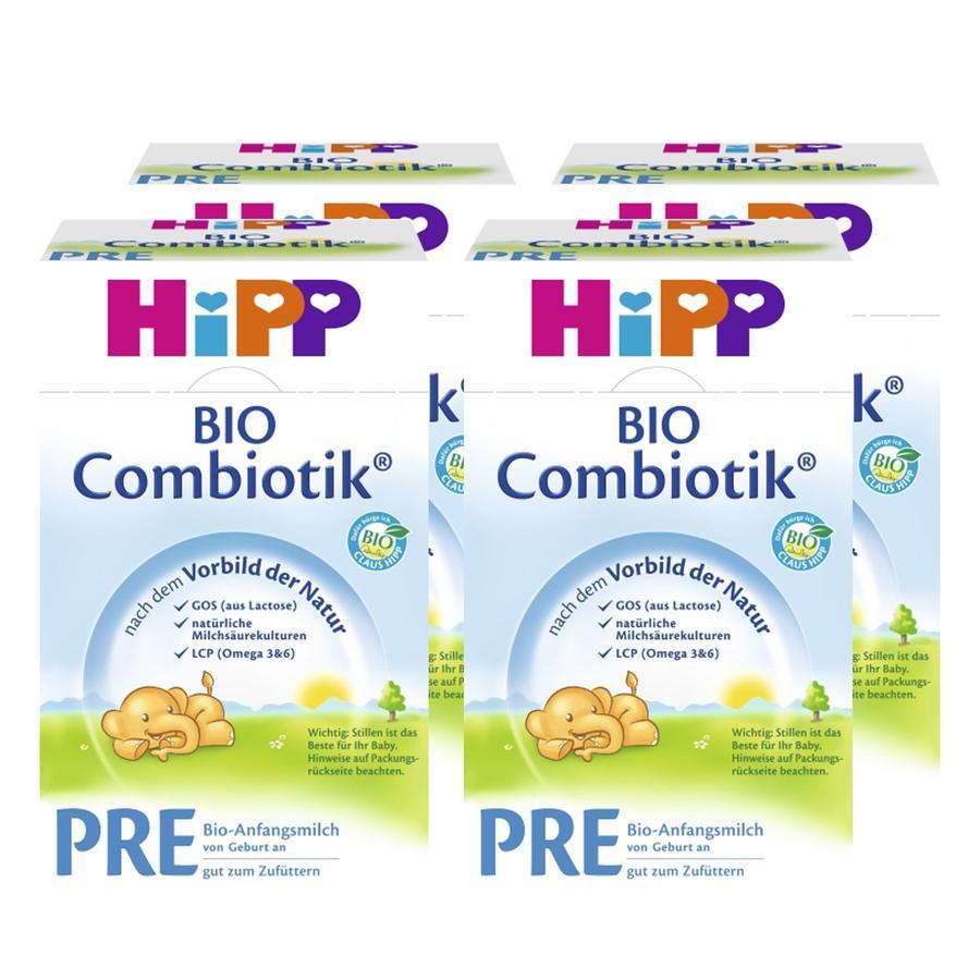 HiPP Anfangsmilch Bio-Combiotik® Pre von Geburt an 4 x 600g