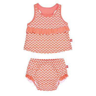 Minigirlbademode - LÄSSIG Girls Tankini zigzag peach - Onlineshop Babymarkt