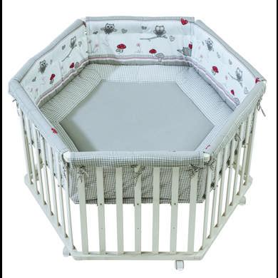 Laufgitter - roba Laufgitter 6 eckig weiß Adam Eule  - Onlineshop Babymarkt