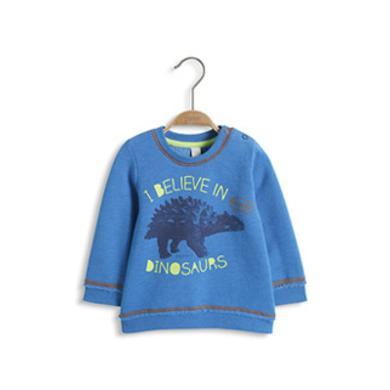 ESPRIT Baby Boy Bluzka z długim rękawem Dinosaurs 430 blue