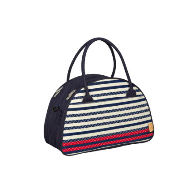 LÄSSIG Přebalovací taška Casual Shoulder Bag Striped Zigzag navy