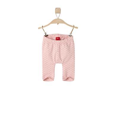 s.OLIVER Girls Baby Leggings pink melange rosa pink Mädchen