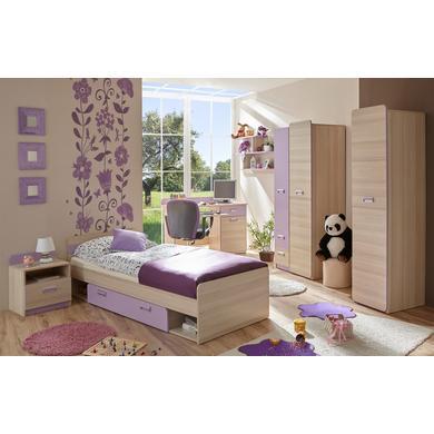 Komplettzimmer - TiCAA Jugendzimmer Lori 6 teilig violett lila  - Onlineshop Babymarkt