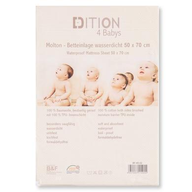 Image of EDITION4BABIES wasserdichte Betteinlage weiß 50x70 cm - Gr.50x70 cm