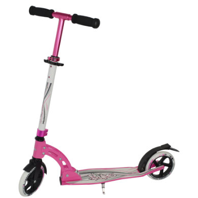 Authentic Sports Aluminium Scooter No Rules 180mm weiß pink