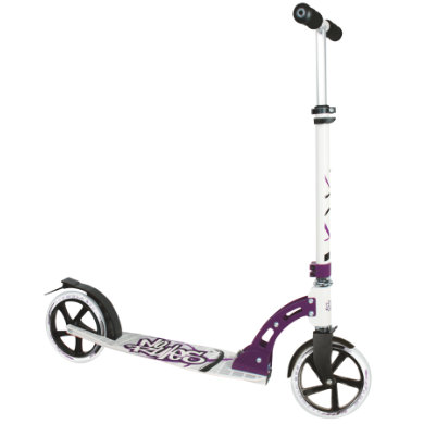 Roller - AUTHENTIC SPORTS Aluminium Scooter No Rules 205 mm, schwarz weiß lila - Onlineshop