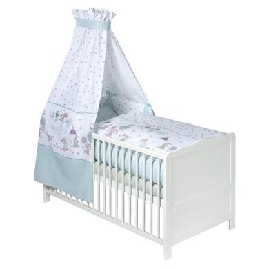 Kindertextilien - JULIUS ZÖLLNER Bettset 3 tlg. 100 135 cm 40 60 cm happy animals mint bunt  - Onlineshop Babymarkt