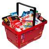 LEGLER Panier à provisions, rouge, avec accessoires