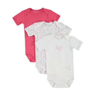 name it  Girls Body 3er Pack rouge red - rot - Gr.Babymode (6 - 24 Monate) - Mädchen