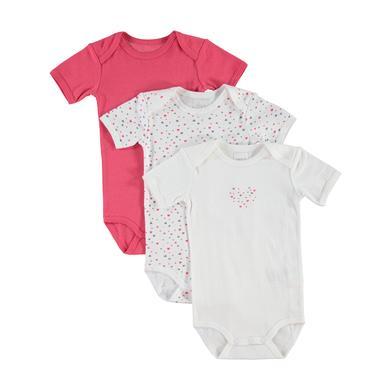 name it  Girls Body 3er Pack rouge red - rot - Gr.Babymode (6 - 24 Monate) - Mädchen