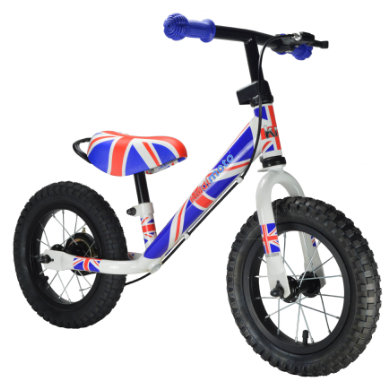 kiddimoto ® Metall Laufrad Super Junior Max Union Jack bunt