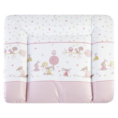 Wickelmöbel und Zubehör - JULIUS ZÖLLNER Wickelauflage Softy Happy Animals rosé 85 x 75 cm  - Onlineshop Babymarkt