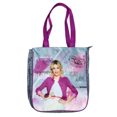 Undercover  Shopping Bag - Disney Violetta - pestrobarevná