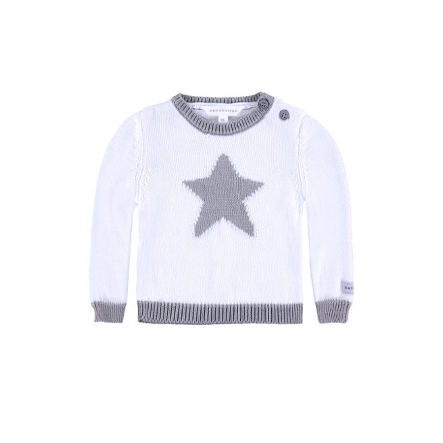 BELLYBUTTON Baby Pullover bright white