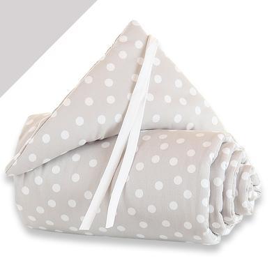 Image of babybay Nestchen Midi / Mini Punkte weiss - weiß