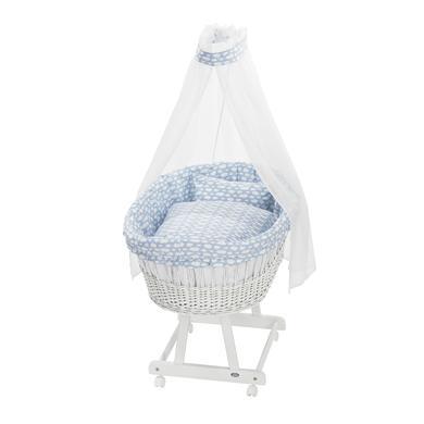 Stubenwagen und Wiegen - Alvi ® Komplettstubenwagen Birthe weiß 653 1 Wolke blau  - Onlineshop Babymarkt
