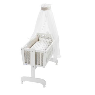 Stubenwagen und Wiegen - Alvi ® Komplettpendelwiege Sina weiß 608 6 Stars beige  - Onlineshop Babymarkt