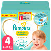 Pampers Couches Premium Protection T. 4 Maxi pack mensuel 9-14 kg 168 pcs