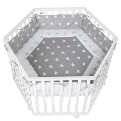 Laufgitter - roba Laufgitter Cosiplay 6 eckig weiß Little Stars  - Onlineshop Babymarkt