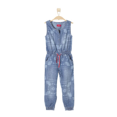 s.OLIVER Girls Džínový overal blue denim stretch - modrá - Gr.122