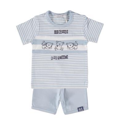 Dirkje Boys Komplet 2-częśćiowy large stripe|light blue